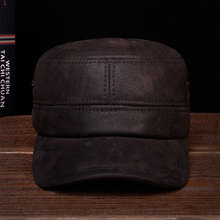 HL086 New brand new winter warm Russian real leather caps hats  genuine baseball
