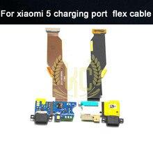 5 шт./партия, usb-порт для зарядки, док-станция, плата, гибкий кабель для Xiao mi 5 mi 5 mi 5,+ номер для отслеживания