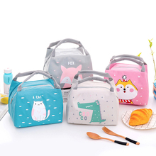Portable Insulated Thermal Cooler Cute Cartoon Bento Lunch Box Tote Picnic Storage Bag Pouch Lunch Bags Waterproof Lunch Bag цена и фото