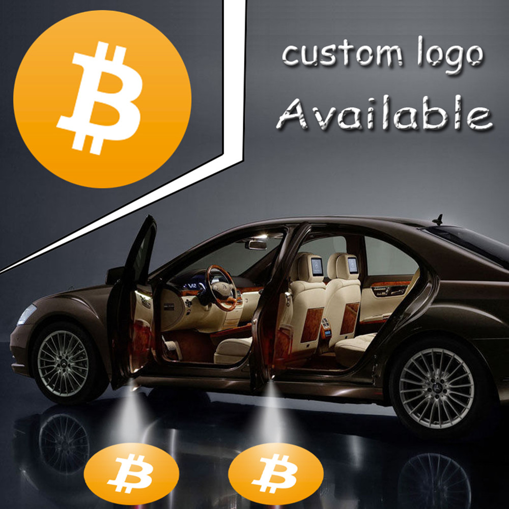 4x LED Car Door Welcome Light Projector Ghost Laser Shadow Lamp Logo For BitCoin #4533*4