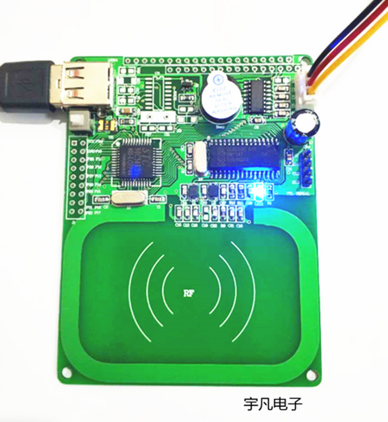 RFID Radio Frequency Card Reader Learning Development Board RC632 ISO14443A/B 15693