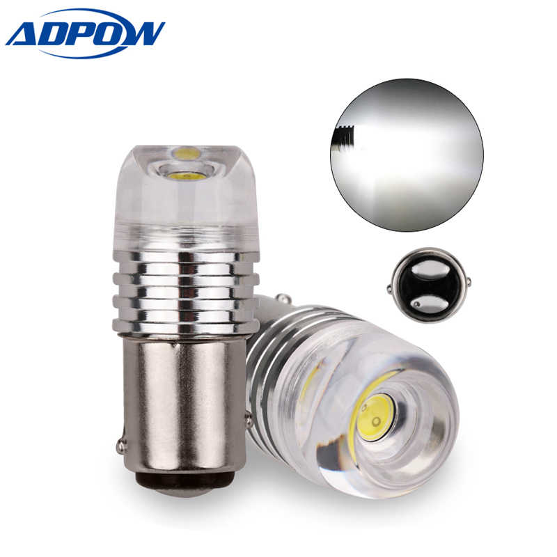 2PCS 1157 BAY15D 3W Car LED COB Concave Len Strobe Flashing White 12V P21/5W Car Brake Turn Signal Lamp Bulb