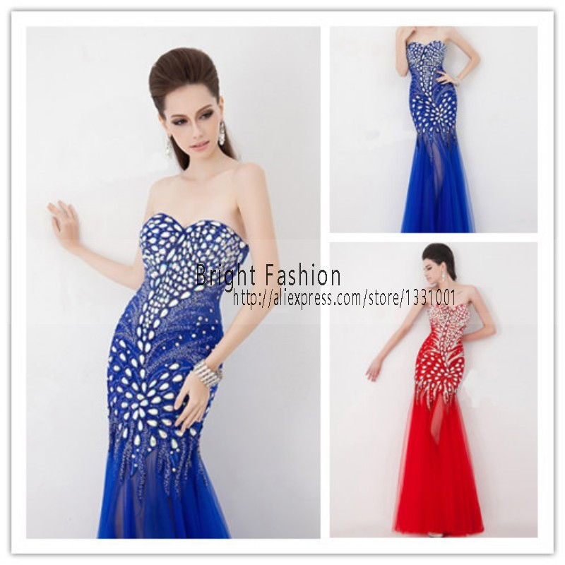 High fashion evening dresses