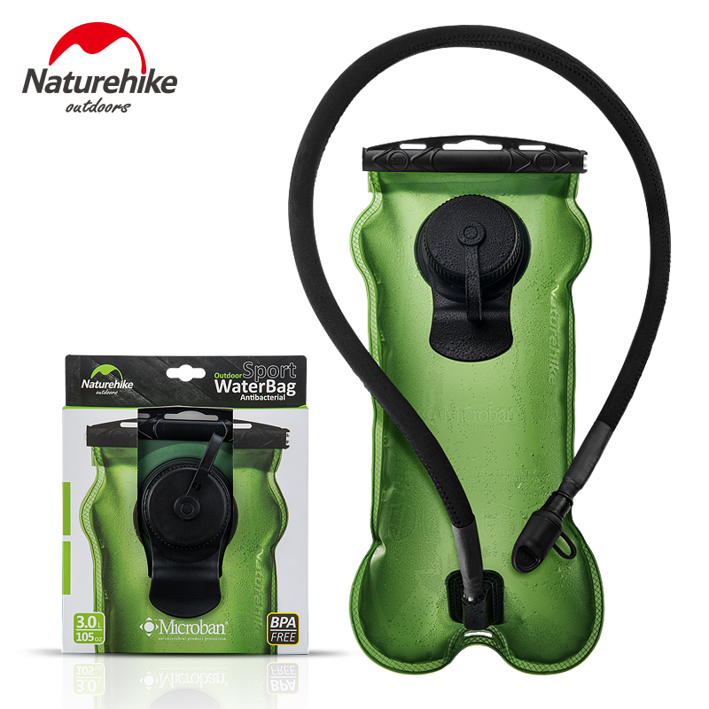 NatureHike Outdoor 3L PEVA Bladder Hydration Camping Hiking Climbing Camelba Foldable Green Water Camel bag For Running