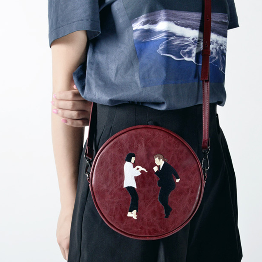 Image 3 - Kiitos Life Circular PU messenger bags for girls original  designed in 2styles(FUN KIK )designer messenger bagmessenger bagbag  designer