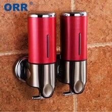 Диспенсер для жидкого мыла, настенный диспенсер для жидкого мыла 500 мл, контейнер для мыла, насос, аксессуары для ванной комнаты, кухня, ручная стирка ORR