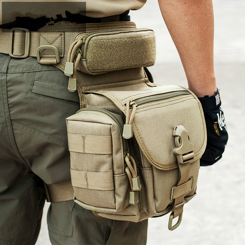 Outdoor Tactical Leg Bag Waist Pack Special Duty Weapons Tactics Sport Ride Motorcycle Waterproof Drop Utility Thigh Pouch Khaki adjustable quick release plastic tactical puttee thigh leg pistol holster pouch for usp45 black