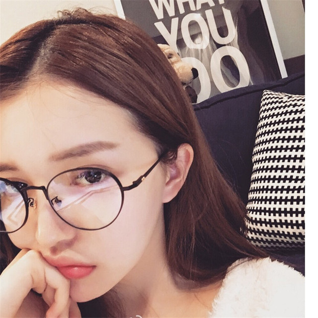 b8b5941e957 Vazrobe Glasses Women men small round eyeglasses frames female nerd points  Spectacles with Clear Lens fashion star thick side