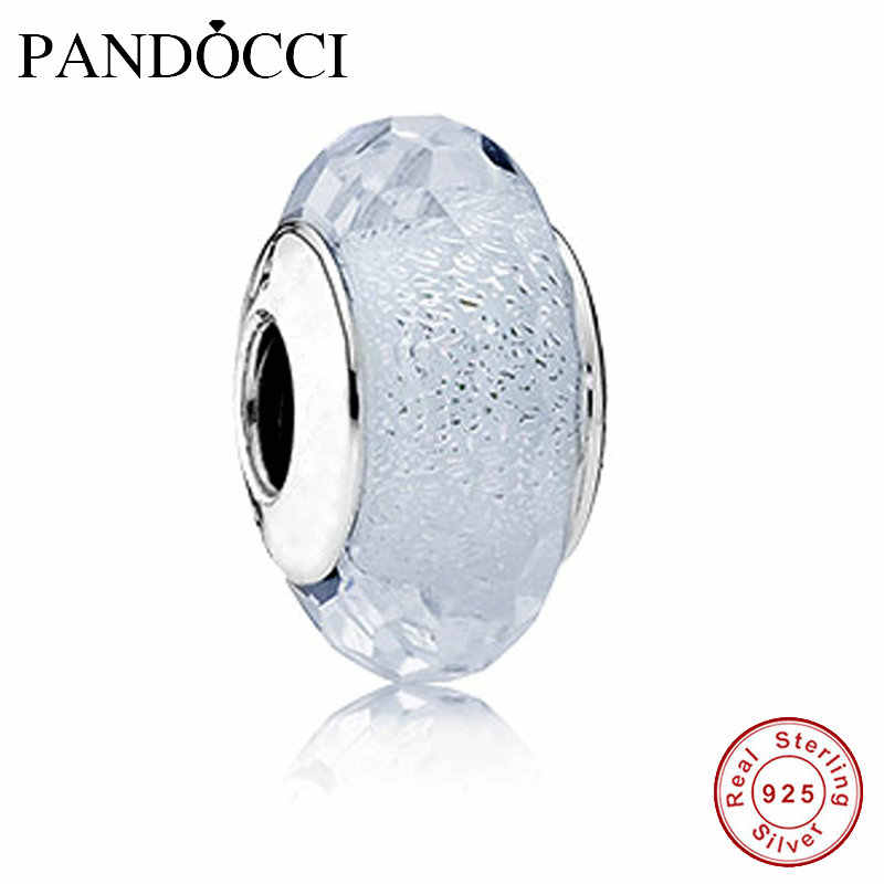 0b3876639 Murano Glass Beads Fits Pandora Bracelets 100% 925 Sterling Silver Jewelry  White Frosty Mint Shimmer
