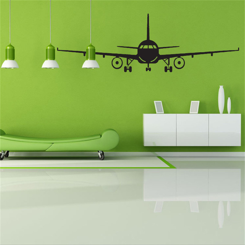 Online buy wholesale wallpaper airplane from china for Stickers muraux