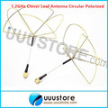 2pcs 1.2G Clover Leaf Circular Polarized SMA male Antenna for 1.2Ghz 1.3Ghz Transmitter Receiver TX RX Set Free shiping