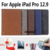 For Apple iPad Pro Case Leather Retro Tablet Bag Fundas Coque For Apple iPad Pro 12.9 Cases Cover with Stand Capa 2015 Released