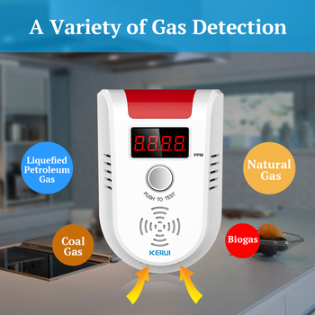 KERUI GD13 LPG GAS Detector Alarm Wireless Digital LED Display Natural Leak Combustible Gas Detector For Home Alarm System 1