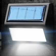6 светодиодный светильник на солнечной батарее, водонепроницаемый Солнечный Ночной светильник, датчик движения, крыльцо, дорожка, уличный забор, садовая лестница, настенный коридор, аварийное бра