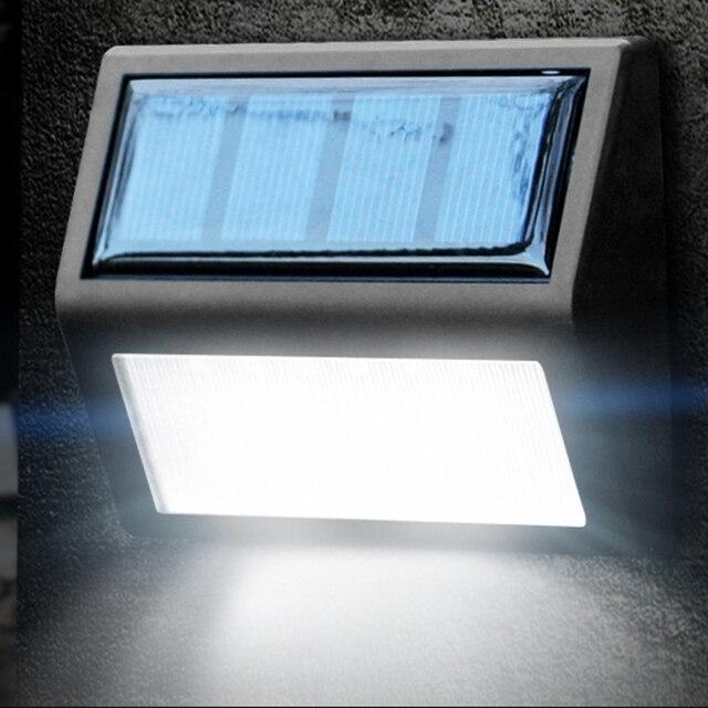 6 LED Solar Lamp Waterproof Solar Night Light Motion Sensor Porch Path Street Fence Garden Stairs Wall Corridor Emergency Sconce
