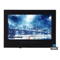 Бесплатная доставка 22 дюймов WI-FI Full-HD 1080 P ванная комната черный/белый ТВ Интернет ТВ Водонепроницаемый ТВ зеркало ТВ