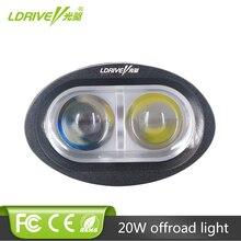 20W LED Work Light Spot Flood Offorad Led Lights Car Truck SUV ATV Boat Van Trailer Driving Lamp Motorcycle Fog Headlight 1PCS