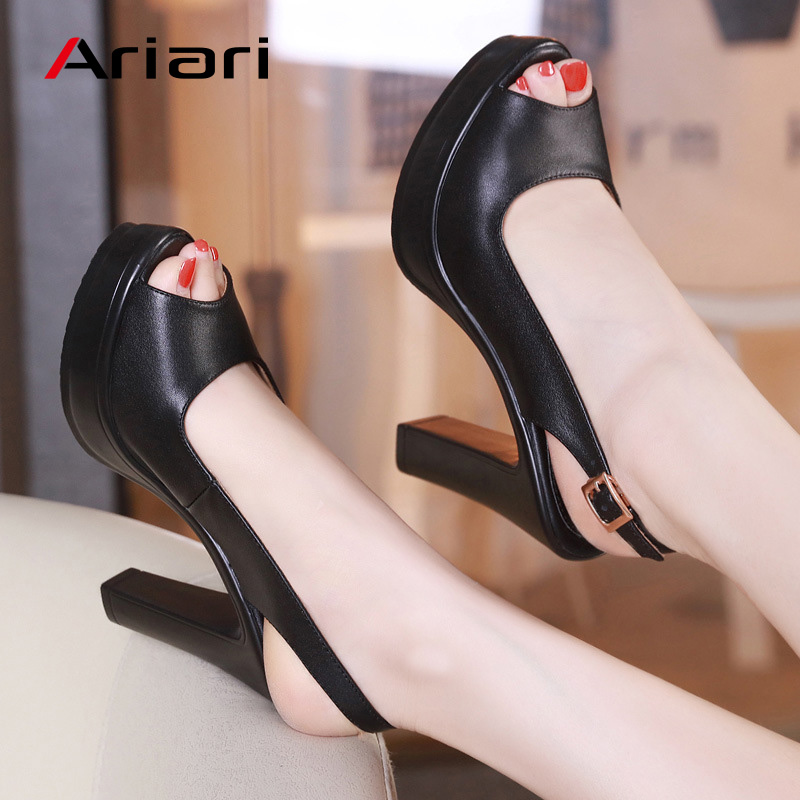 Ariari Ladies Stilettos Plus Size 43 Women Sexy High Heels 2018 Fashion Office Lady Peep Toe Pumps Party Wedding Bride Shoes dijigirls new women pumps fashion stripe high heels shoes woman party wedding stilettos peep toe summer boots shoes size 35 40