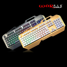 Wired Mechanical Keyboard 104 Keys Gaming For Computer Games Mechanical Feel With 7 Colorful Rainbow Backlight