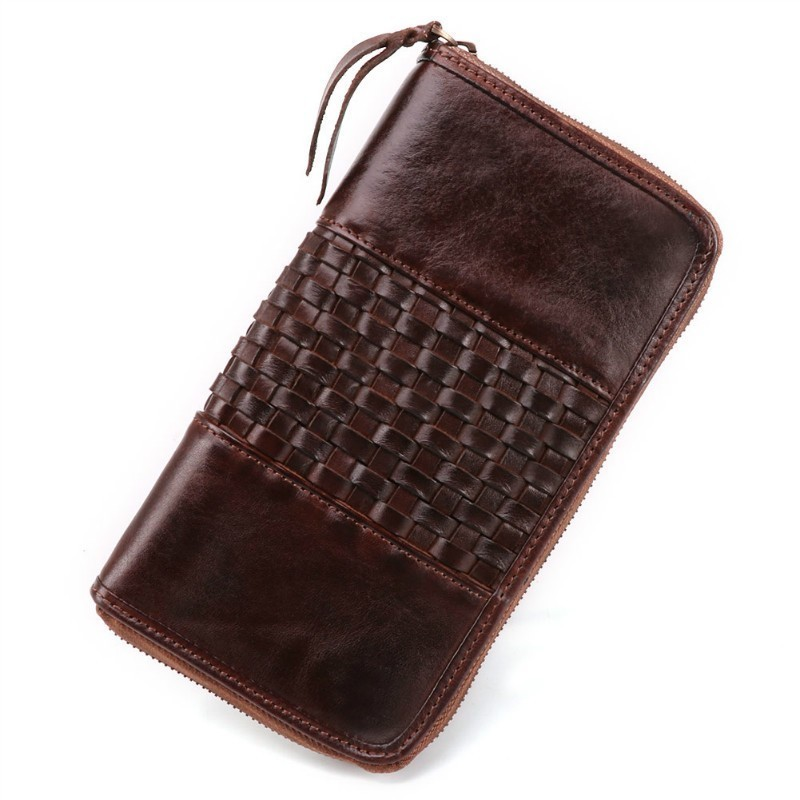 Berserk Men Wallets Long Casual Men Wallet Leather Zipper Male Clutch Wallets With Coin Pockets Cell Phone Pocket Men Purse slimming narrow feet zipper fly special cross print purfle pocket men s casual long pants