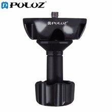 Acessórios Da Câmera de Esportes PULUZ 75mm Meia Bola Plana Para Adaptador Tigela para DSLR Rig Câmera Cabeça do Tripé Fluido, Material de Metal