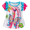 Novatx garota camiseta crianças t camisas de algodão camisa dos miúdos t crianças meninas roupas de verão meninas crianças top roupas k4042