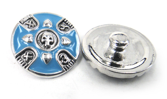 MOODPC Free drop shipping 1.8-2cm alloy ghost design charm DIY button metal charms