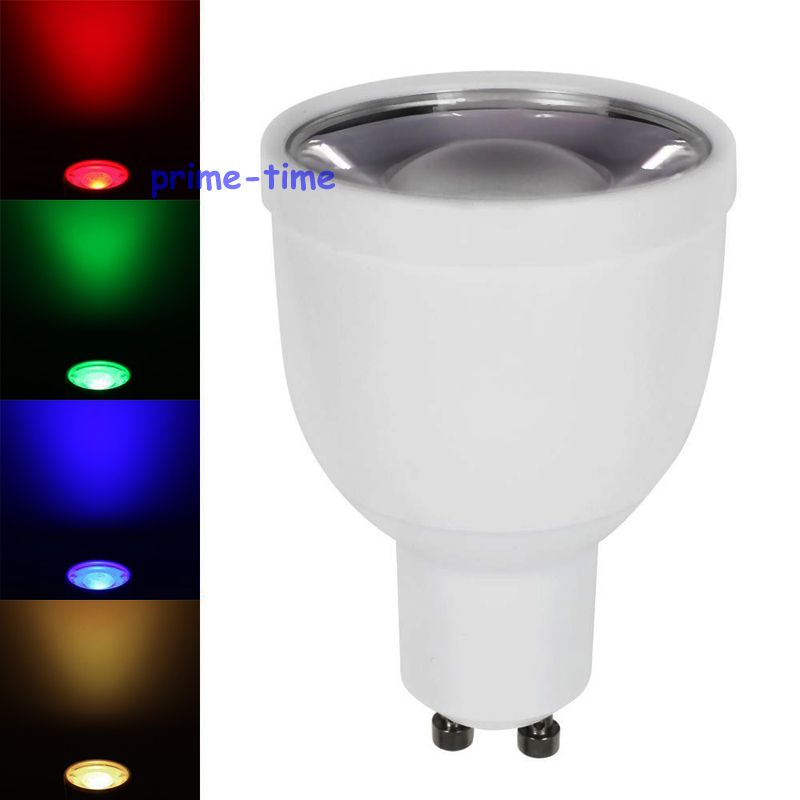 10pcs 2 4G 5W GU10 RGBW or RGBWW LED Bulb Lamp AC85 265V Color Brightness Dimmable