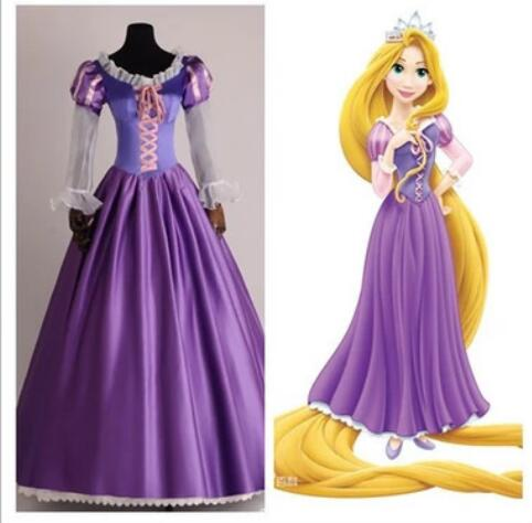 Brand new princess Rapunzel Halloween sexy S-XXL Women Adult party Costume Cosplay fancy dress carnival role-playing ems dhl free shipping toddler s little girl s tull dress princess birthday party masquerade rapunzel cosplay halloween wear