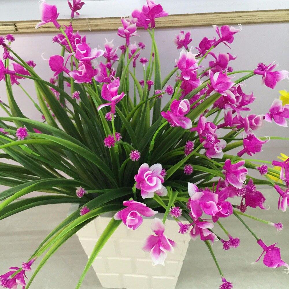 1 Bunch 21 Heads Künstliche Blumen Mit Blatt Hochzeit Dekoration Simulation Phalaenopsis Blume Startseite Diy Valentinstag Decor Den Menschen In Ihrem TäGlichen Leben Mehr Komfort Bringen