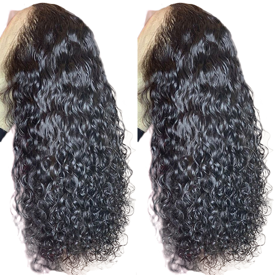 150% Density 360 Lace Frontal Wig For Women Brazilian Remy Hair Pre Plucked Curly Lace Front Human Hair Wigs Bleached Knots(China)