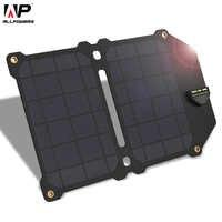 Cargador Solar ALLPOWERS 14 W 5 v a Dual USB Panel Solar cargador de energía plegable para teléfonos inteligentes