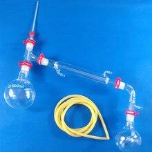 500 ml, 24/29, Vetro Apparato di Distillazione, Kit Chimica Vetreria di Laboratorio, di Vuoto Dispositivo Distillare, Borosilication vetro 3.3