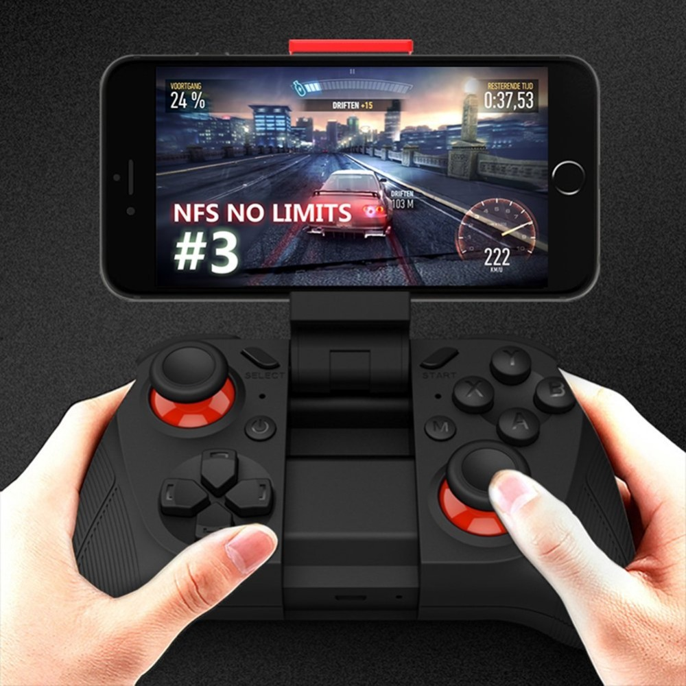 Doppio bilanciere Smartphone Game Controller Senza Fili di Bluetooth Del Telefono Gamepad Joystick per Android Phone/Pad/Tablet PC Android TV