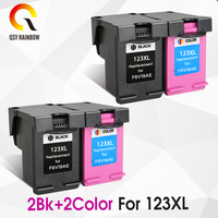 CMYK SUPPLIES 123 Ink Cartridges Refilled Replacement for HP 123xl 123 XL for Deskjet 1110 2130 2132 2133 3630 3632 3638 3830