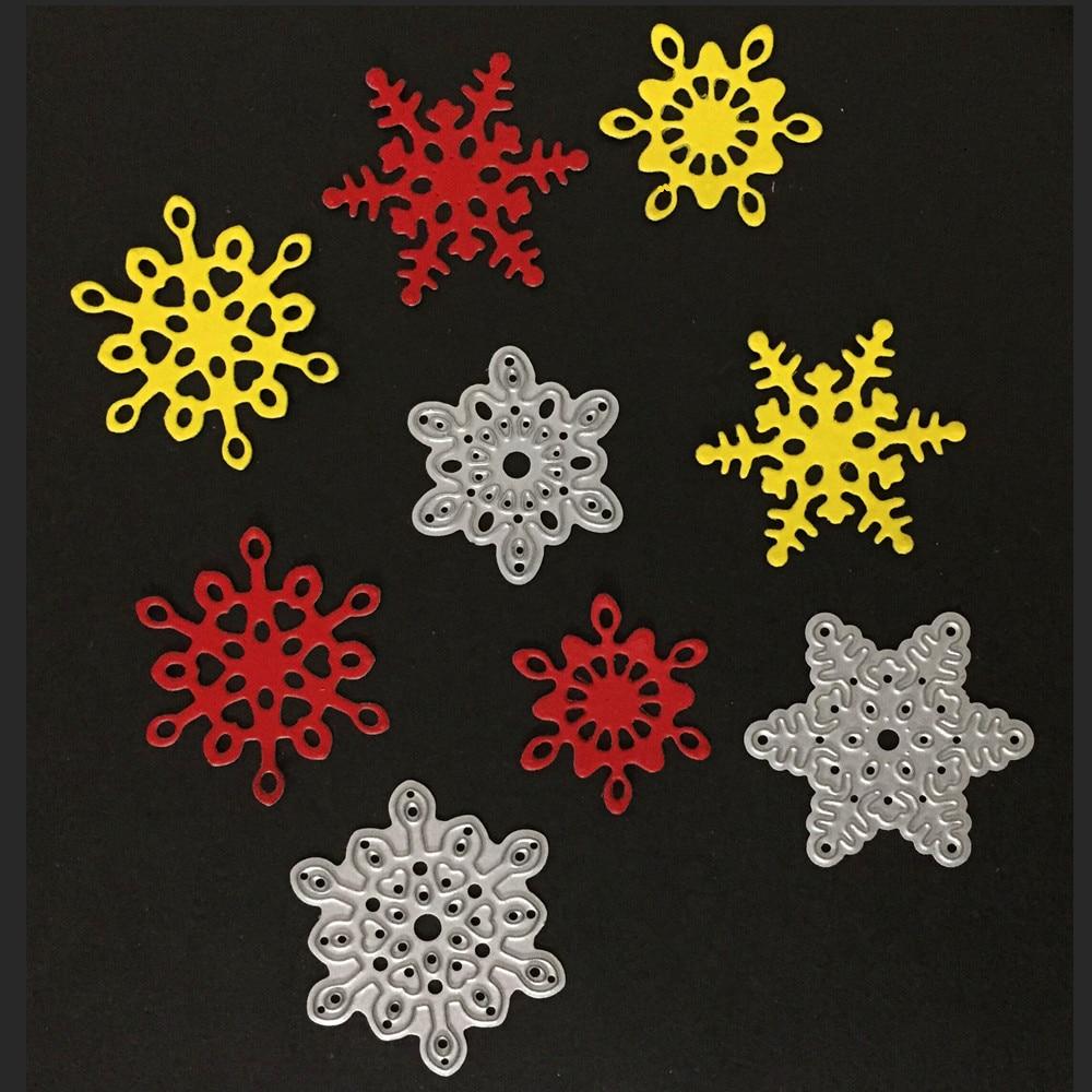 3pcs Christmas Snowflake Metal Cutting Dies Stencil Carbon Steel DIY Scrapbooking Paper Craft Decorative Embossing Cutting Dies