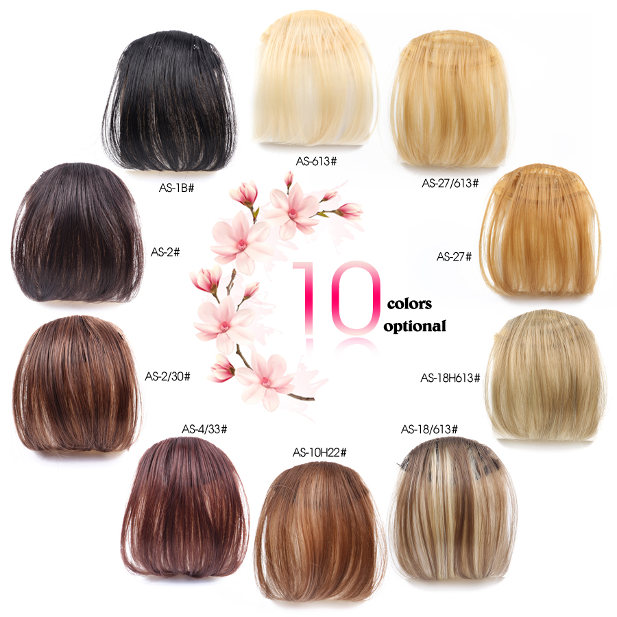 Alileader synthetic hair straight girls front neat bang hair alileader synthetic hair straight girls front neat bang hair extensions fake hair clips high temperature fiber 6 inch 10 colors in bangs from hair pmusecretfo Choice Image
