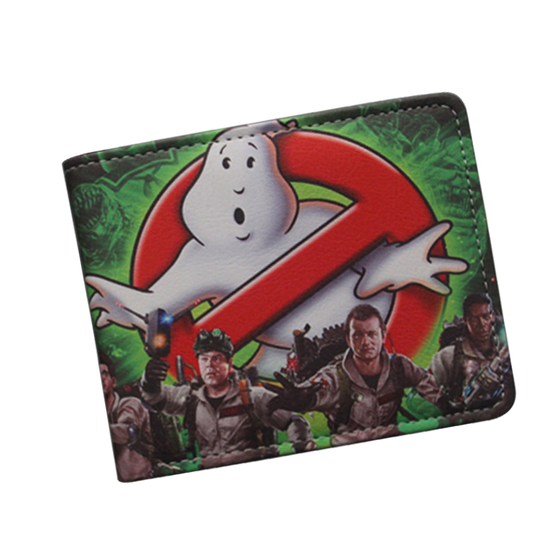 Antique Classic Cartoon Movie Wallet GHOSTBUSTERS Wallet Ultra Slim Leather Bifold Men Money Bag GHOST BUSTERS Purse Card Holder anime cartoon pocket monster pokemon wallet pikachu wallet leather student money bag card holder purse
