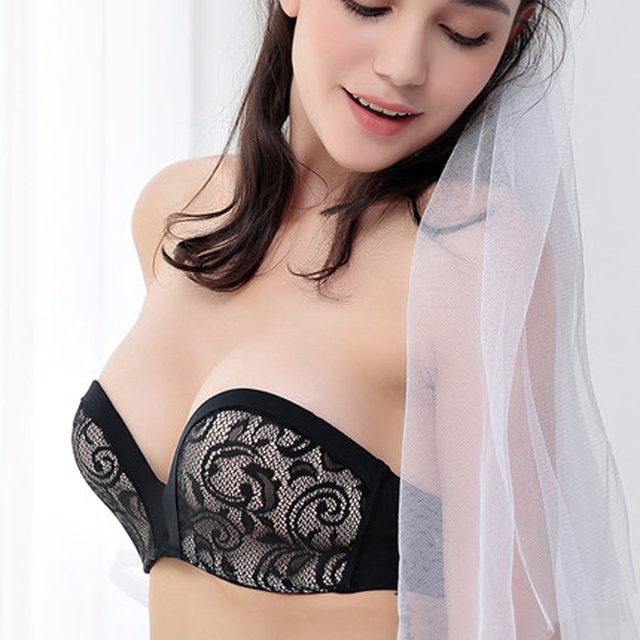 440a09600691f Sexy Mousse Hot Sale Wedding Bridal Bra Intimates Exquisite Embroidery  Royal Cup Slip-resistant Bride Dress Bra Push Up