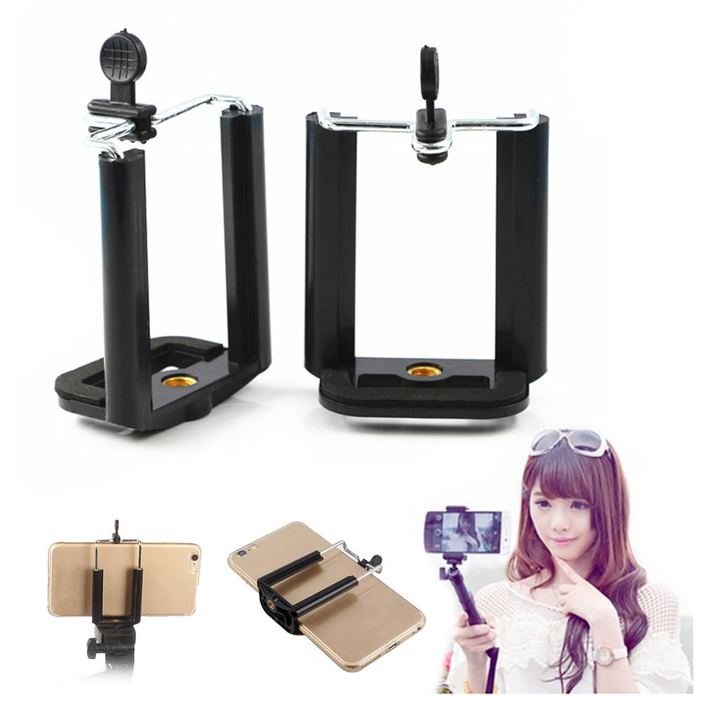 Image 3 - Universal Mobile Phone Clip Holder Mount Bracket Adapter For Selfie Stick Tripod Smartphone Camera Cell Phone Tripod Stand Mount-in Sports Camcorder Cases from Consumer Electronics