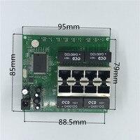 OEM PBC 8Port Gigabit Ethernet Switch 8Port with 8 pin way header 10/100/1000m Hub 8way power pin Pcb board OEM screw hole