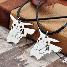 Silver Pokemon Pikachu Necklace For Women