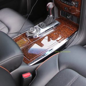 Para Nissan Patrol Y62 2016-2018 ABS Cromo Do Carro de Madeira Todos Os Tipos de Acessórios Interiores Tampa Trims Car Styling auto Acessórios