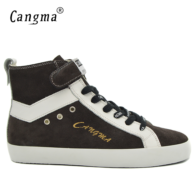 CANGMA Luxury Man Boots Marque Mens Shoes Autumn Grey Cow Suede Footwear Genuine Leather Sneakers Male Casual Shoes Ankle Boots шприц сфм sfm 3 х компонентный 5мл 10