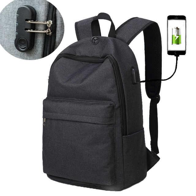 2fd317806f6d Anti theft Multifunction USB charging Men Laptop Backpacks Fashion Mochila Leisure  Travel backpack With Lock Women