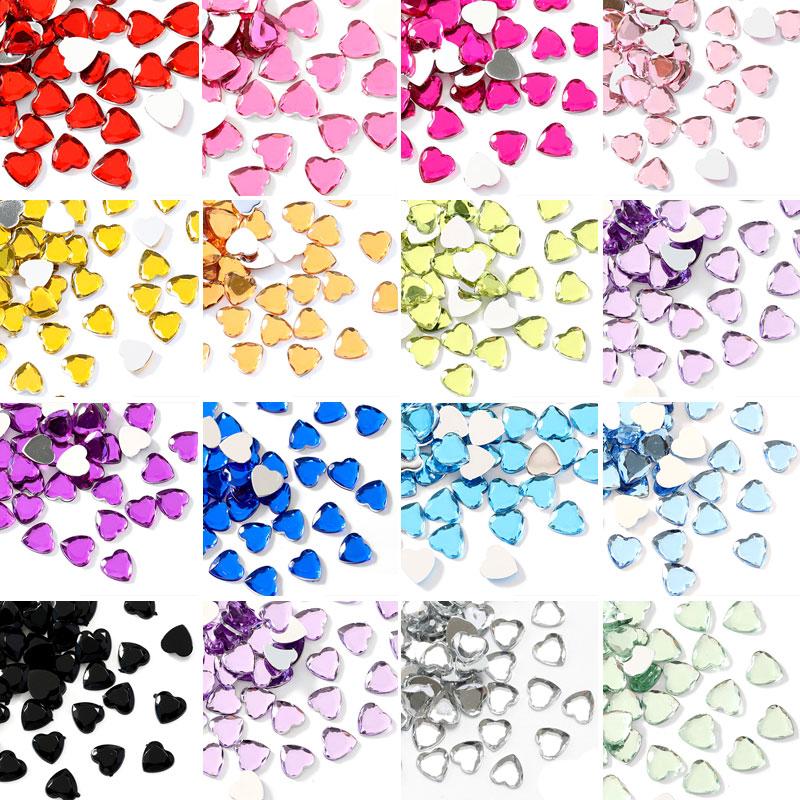 100 шт., акриловые стразы для дизайна ногтей