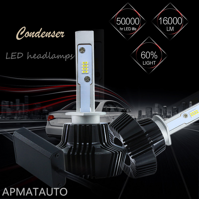 2X LED H1 H3 880 881 H27 Headlight Bulbs Fog Lamp 12V 6000K White Lamp Replacement Bulb 160W 16000LM DRL Fog Head light Kit