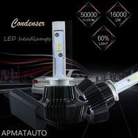 2X LED H1 H3 Auto Headlight Bulbs For Car Light 12V 6000K White Lamp Replacement Bulb