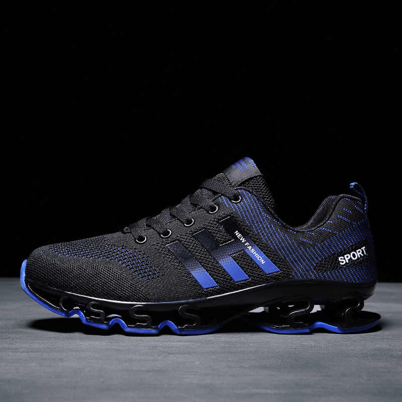 0233d9ec04bbc 2018 Men Shoes Running Adult Sport Cool Black Breathable Autumn ...