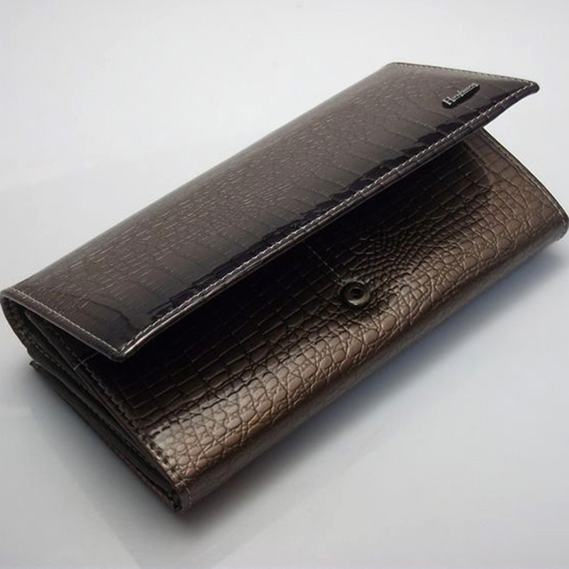 mulheres carteiras de crocodilo 3d Material do Forro : Couro Genuíno